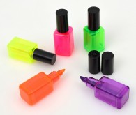 Nail polish bottle shaped private label mini highlighter marker pens with custom logo